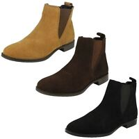 Ladies Leather Collection Casual Short Ankle Boots