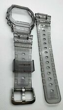 g-shock  DW5600 transparent grey clear jelly bezel and strap