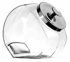 4x Anchor Hocking Glass Sweet Jar 1 gallon Cookie Chrome Lid Shop Display Jars