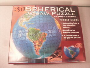Planet Earth Globe 3D Spherical Jigsaw Puzzle by Buffalo Games