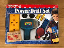 Vintage 1990 Fisher Price Action Tool Power Drill Set #7172 In Original Box