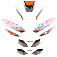 "OEM KTM FACTORY ""DUKE"" GRAPHICS KIT 125 200 250 390 DUKE 2011-2017 90608999300"