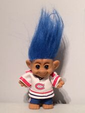 Vintage Patrick Roy Montreal Canadiens Blue Hair Forest Troll 1990s Toy Figure