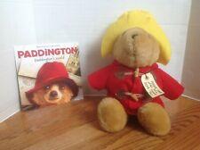 "Plush PADDINGTON BEAR 16"" with PB Book Paddington's World CUTE and CLEAN!"