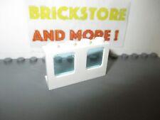 4x window fenêtre 1x2x2 Plane Single glass blanc//white 60032 NEUF Lego