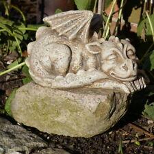 Drache liegend groß Drachenbaby Drachenkind Garten Figur schlafend Tier