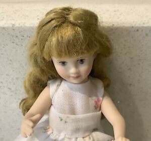 Dolls house miniature 1:12 pretty porcelain modern girl doll