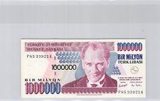 Turquie 1 000 000 Lira L1970 (1995) n° P85339214 Pick 209