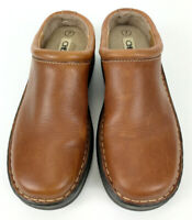 Cherokee Brand Women's Leather Clog's Size 7 Brown Slip On Shoes