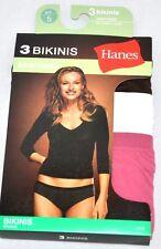 ae6ca131bdaa 3 Womens Underwear Size 5 Hanes Seamless Bikinis No Panty Lines Tag