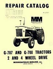 Minneapolis Moline G 707 G 707 G707 G708 Lp Gas Diesel Tractor Parts Manual