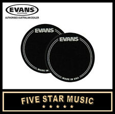 EVANS EQPB1 BLACK NYLON SINGLE PEDAL KICK DRUM HEAD EQ PATCH - 2 PACK - NEW