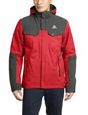NWT Salomon Men's Snowtower Jacket, Victory Red/Black, size Medium