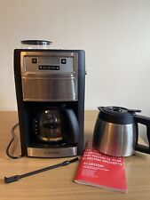Klarstein Aromatica Coffee Machine Grinder 10 Cups Bean to Cup with Thermo Jug