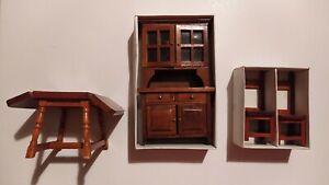 Arredamento In Legno Per Sala Da Pranzo Per Case Di Bambole E Miniature Acquisti Online Su Ebay
