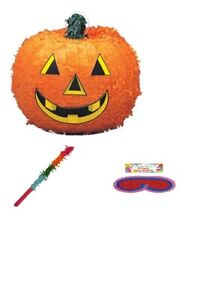 Halloween Pumpkin 3D Pinata Stick & Blindfold Birthday Party Toy