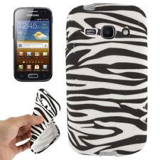 TPU Case für Samsung S7272 Galaxy Ace 3 Zebra Style schwarz weiß Hülle Cover