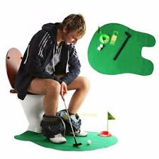Creative Bathroom Toilet Mini Golf Potty Putter Game Men's Toy Novelty Gift