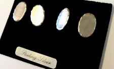Vintage Unused On Card Sterling Silver Diamond Cut CUFFLINKS