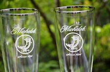 New Pair Of Michelob .4 Ltr. Ritzenhoff Cristal Shoehorn Style Beer Glasses