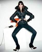 Iconic Gucci Tom Ford Runway 03 Black Wide Corset Belt Buckle Jacket  Sz 40
