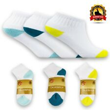 Luxury 6 PAIRS Men / Boys colored Toe and Heel Ankle Socks Trainer SIZE UK 3-5