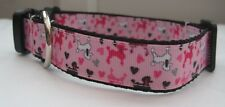 poodle pink dog collar or lead handmade grooming puppy k9