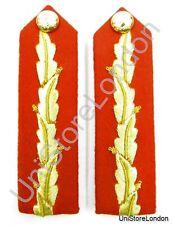 Ringkragen General's Kragen-Patch Rot Blattgold L 12.1cm mit Clip No. 1 Dress R