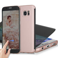 For Samsung Galaxy S7 Privacy TPU Full Screen Cover Screen in Case Rose Gold