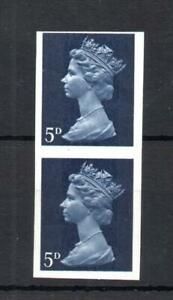 5d MACHIN UNMOUNTED MINT IMPERFORATE PAIR (EX CYLINDER 10)