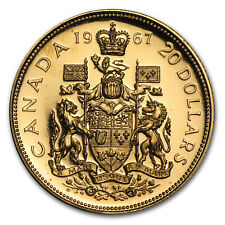 1967 Canada Gold $20 Confederation BU/Proof (AGW .5288) - SKU #8904