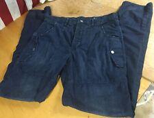 GAP 1969 dark Button-Fly Drop Crotch Slim taper Jeans vtg Jailhouse Pants 34x36
