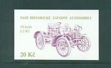 Czechoslovakia 1994 20k Classic Historic Cars  Booklet