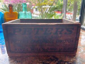 Peters Air Rifle Shot Ammo Wood Box / Wood Crate