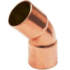 "(Bag of 10) 1 1/2"" Copper Fitting Sweat 45 Degree Elbow CxC"