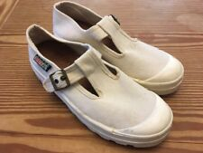 SABRA NEGEV White Textile Canvas Monk Strap Lug Heeled Shoes Size 42 USA 8d9d215694f