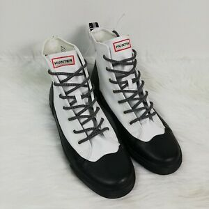 Hunter for Target White Dipped Canvas High Top Rain Boots Women's Size 11 Men 9