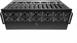 13 GPU Aluminum Open Air Mining Rig Case Ethereum Zcash Bitcoin Monero