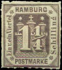 German States, Hamburg Scott #24 Mint Hinged