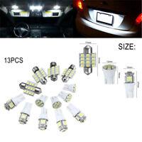 13PCS Car LED Light Interior Lights Kit T10 & 31mm  Xenon White Bulbs Map Dome