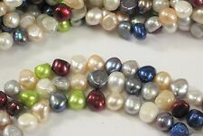 8-10mm Multi Color Nugget Freshwater Pearl Beads, Natural Irregular Nuggets(#76)