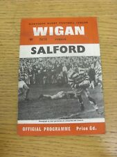 25/02/1967 Rugby League Programme: Wigan v Salford [League Challenge Cup] (Light