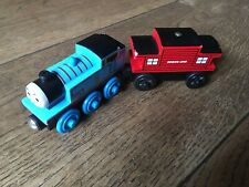 THOMAS THE TANK ENGINE & FRIENDS WOODEN TOY TRAIN & SODOR LINE CABOOSE
