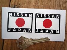 NISSAN Hinomaru Japonais Japon Style Voiture Autocollants Paire 50mm Course Rallye casque