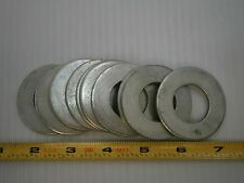 "#1 1"" Sae Flat Washer steel zinc fw 2"" OD lot of 8 #669A"