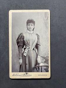 Victorian Carte De Visite CDV: Pretty Young Lady Unusual Gown: Williams Williams