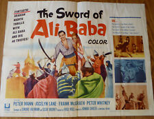 THE SWORD OF ALI BABA - 1965 - 1/2 SHEET FOLDED 22 X 28 - ORIGINAL - PETER MANN
