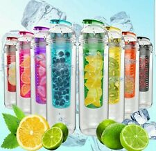 NEW 800ML FRUIT INFUSION INFUSING INFUSER WATER BOTTLE SPORTS HEALTH WITH SPOUT