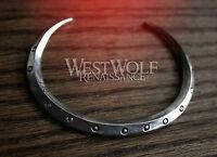 Viking Bangle Bracelet - Shield Rim Cuff -- Norse/Medieval/Silver/Jewelry/Torc