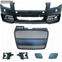 A4 B7 Full Front bumper RS Style S-line Bodykit Tuning Black Grill Mesh Whole S4